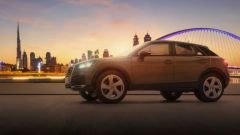 Audi Q2, l'illustrazione di Felix Hernandez per Audi Middle East