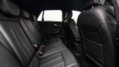 Audi Q2 restyling 2021: interni, abitacolo posteriore