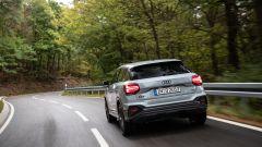 Audi Q2 restyling 2021: vista posteriore