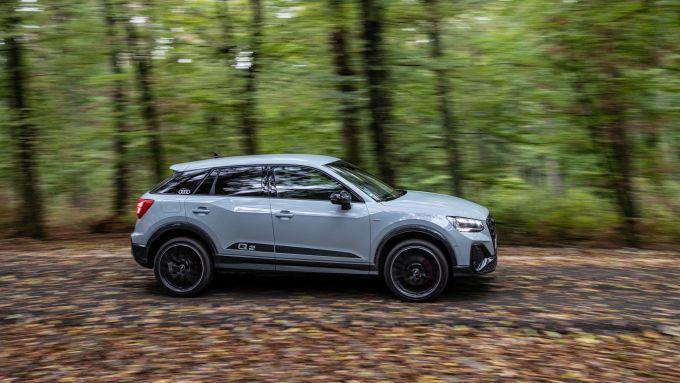 Audi Q2: visuale laterale