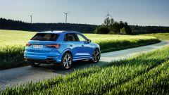 Audi Q3 TFSI e: visuale di 3/4 posteriore