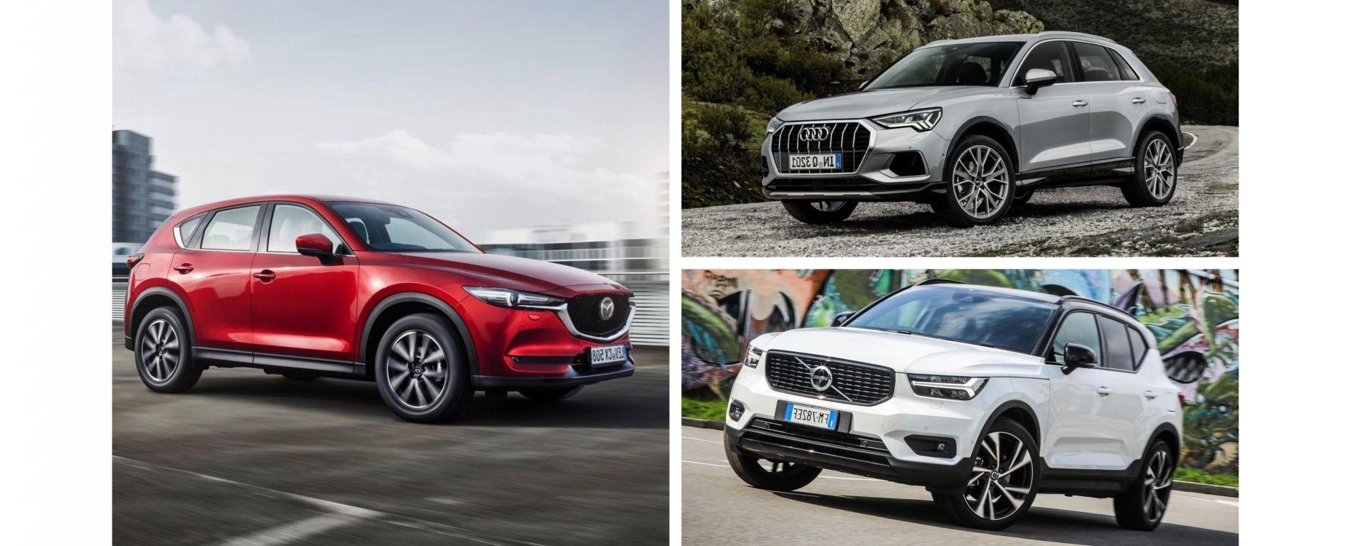 Audi Q3 vs Volvo XC40 vs Mazda CX-5