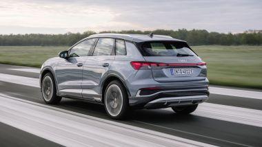 Audi Q4 45 e-tron quattro: 265 CV complessivi, 490 km di autonomia