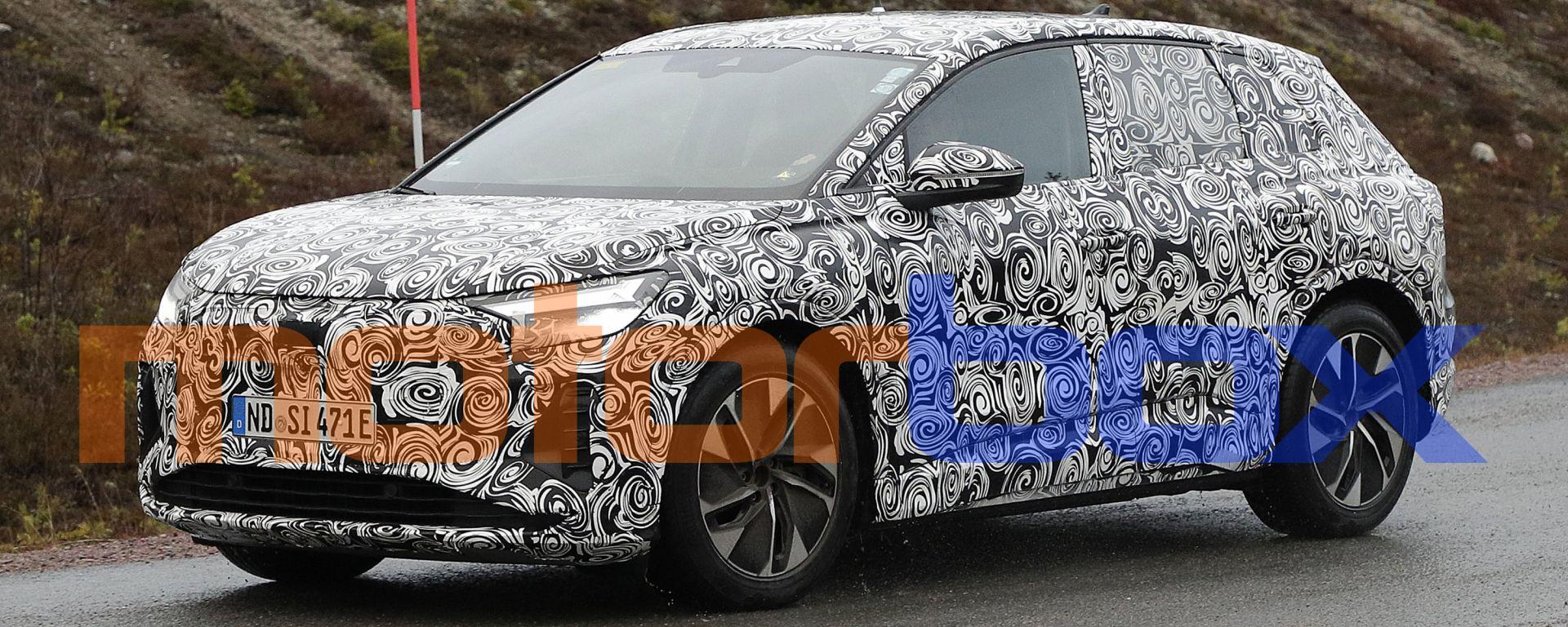 Audi Q4 e-tron 2021: visuale di 3/4 anteriore