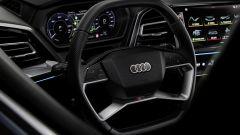 Audi Q4 e-tron: il volante con i comandi touch spenti