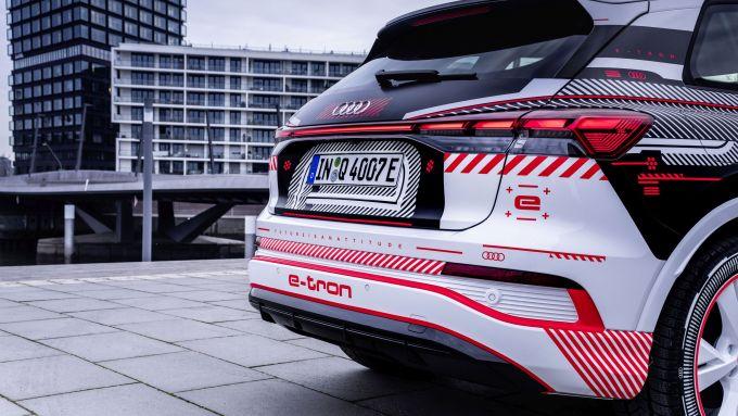 Audi Q4 e-tron: particolare del posteriore