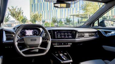 Audi Q4 e-tron Sportback, la plancia