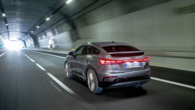 Audi Q4 e-tron Sportback, la prova su strada