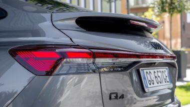 Audi Q4 e-tron Sportback, luci e spoiler posteriore
