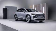 Audi Q4 e-tron Sportback: visuale di 3/4 anteriore