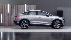 Audi Q4 e-tron Sportback: visuale laterale