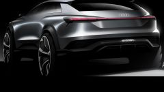 Audi Q4 E-Tron: vista 3/4 posteriore