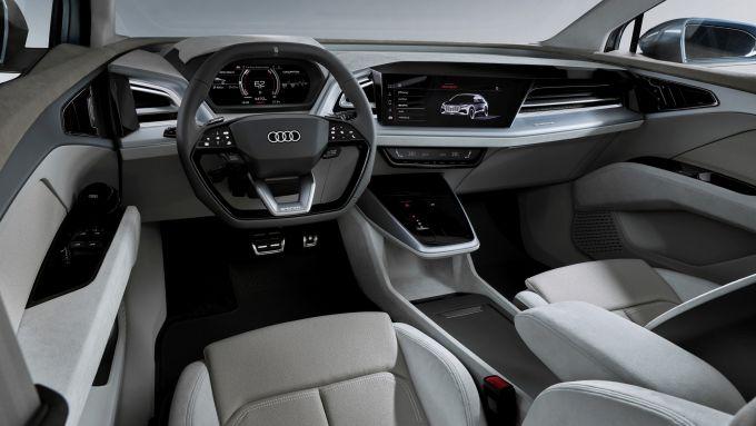 Audi Q4 e-tron: visuale dell'abitacolo