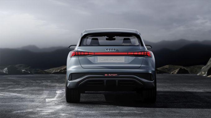 Audi Q4 e-tron: visuale posteriore