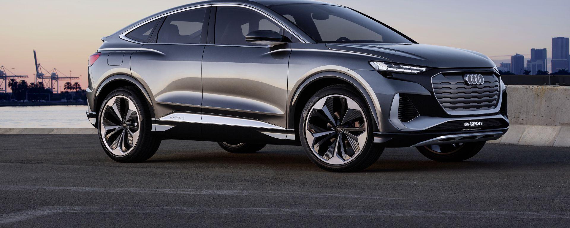 Audi Q4 Sportback e-tron concept: il SUV compatto diventa coupé