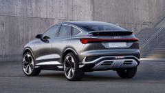 Audi Q4 Sportback e-tron concept: vista 3/4 posteriore