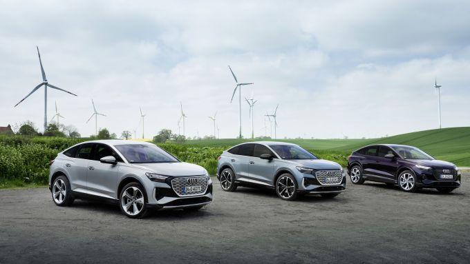 Audi Q4 Sportback e-tron: disponibile in due motorizzazioni