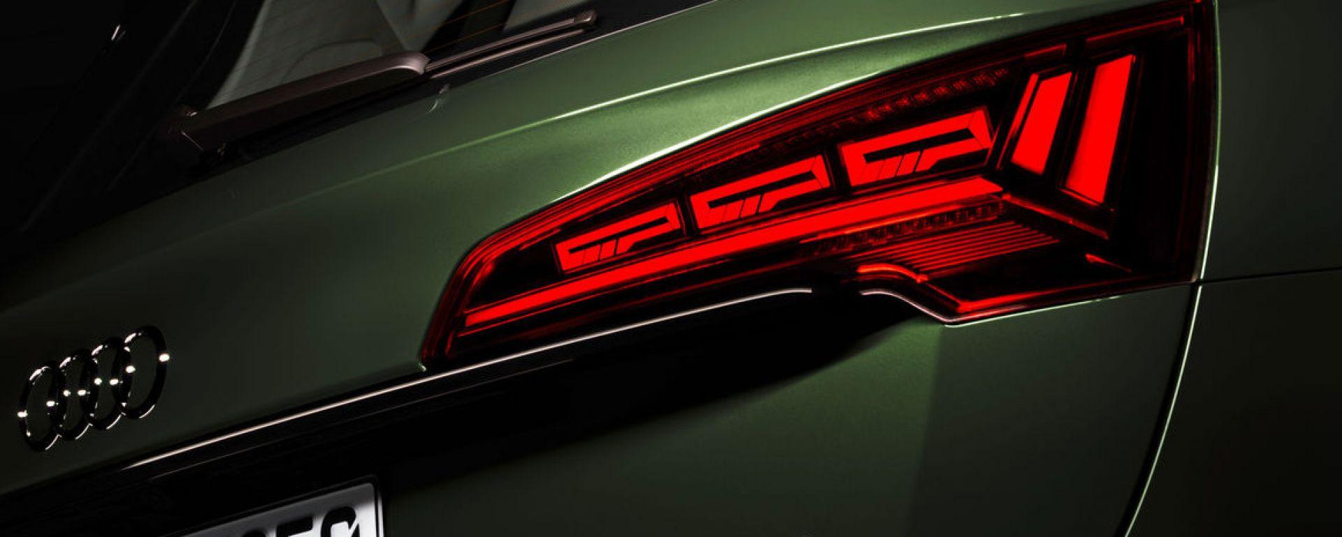 Audi Q5 2021: la prima di serie a beneficiare dei fari OLED con nuove funzionalità