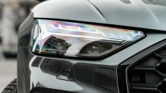 Audi Q5 40 TDI quattro S tronic S line plus 2021, dettaglio del gruppo ottico anteriore