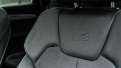 Audi Q5 40 TDI quattro S tronic S line plus 2021, dettaglio del rivestimento dei sedili