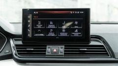 Audi Q5 40 TDI quattro S tronic S line plus 2021, lo schermo dell'infotainment