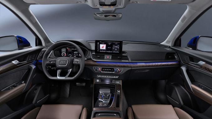 Audi Q5 Sportback 2021: l'abitacolo