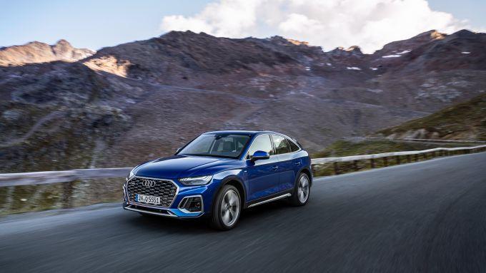 Audi Q5 Sportback 2021: parte col mild hybrid 2.0 TDI