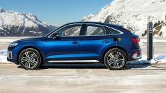 Audi Q5 Sportback TFSI e: visuale laterale