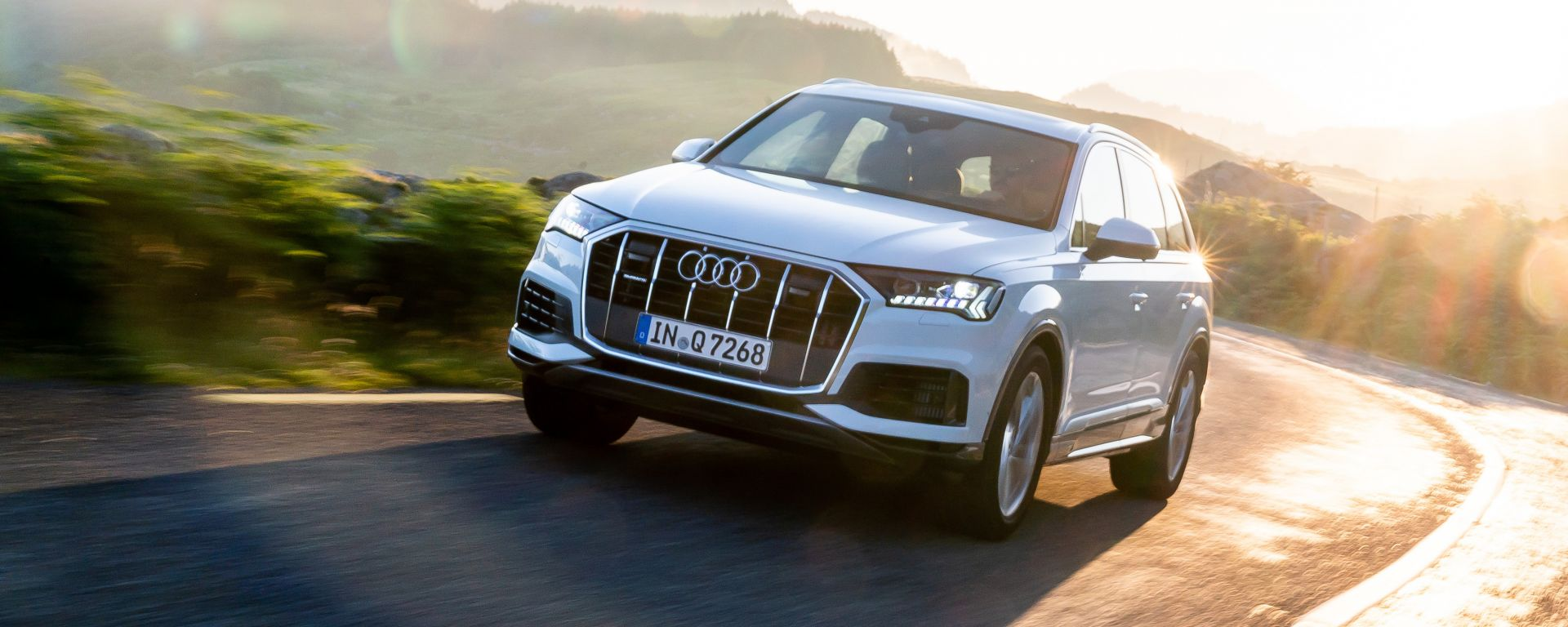 Audi Q7, dettaglio del frontale
