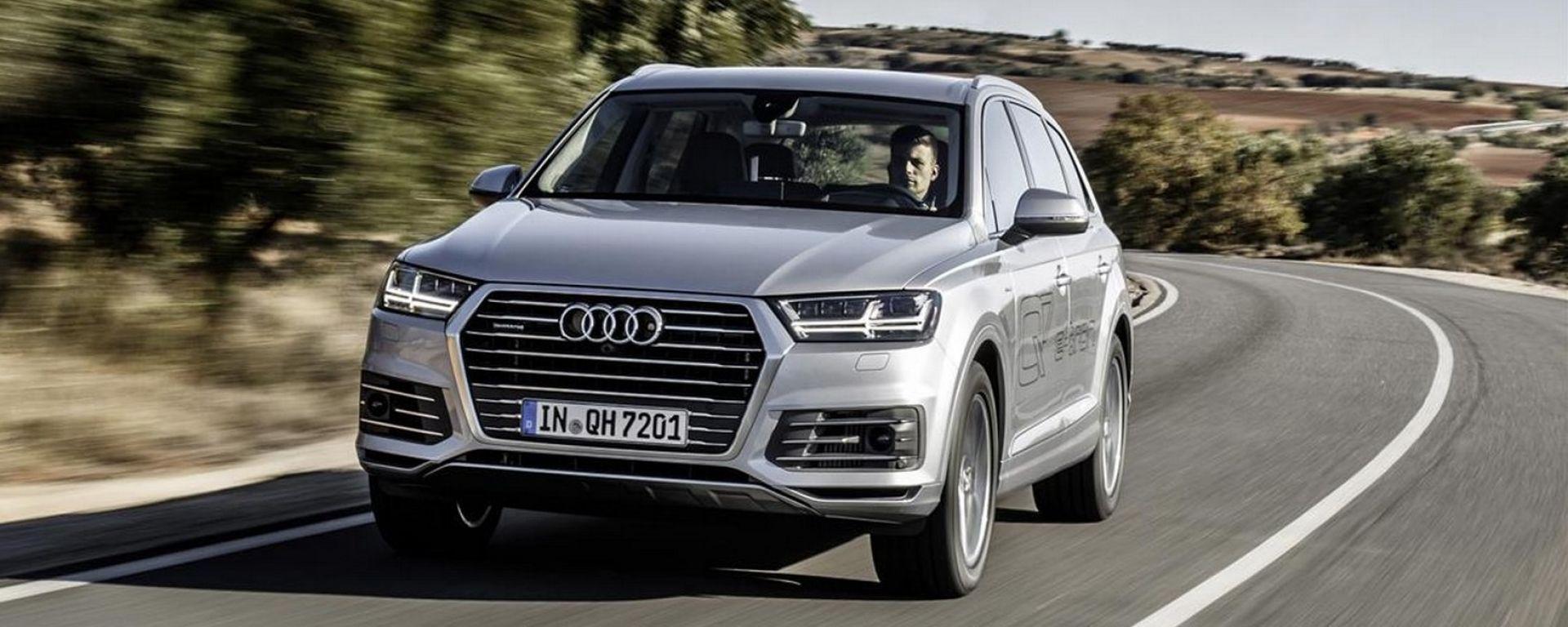 Audi Q7 e-tron, la prova