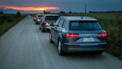 Audi Q7 e-tron, la vista posteriore