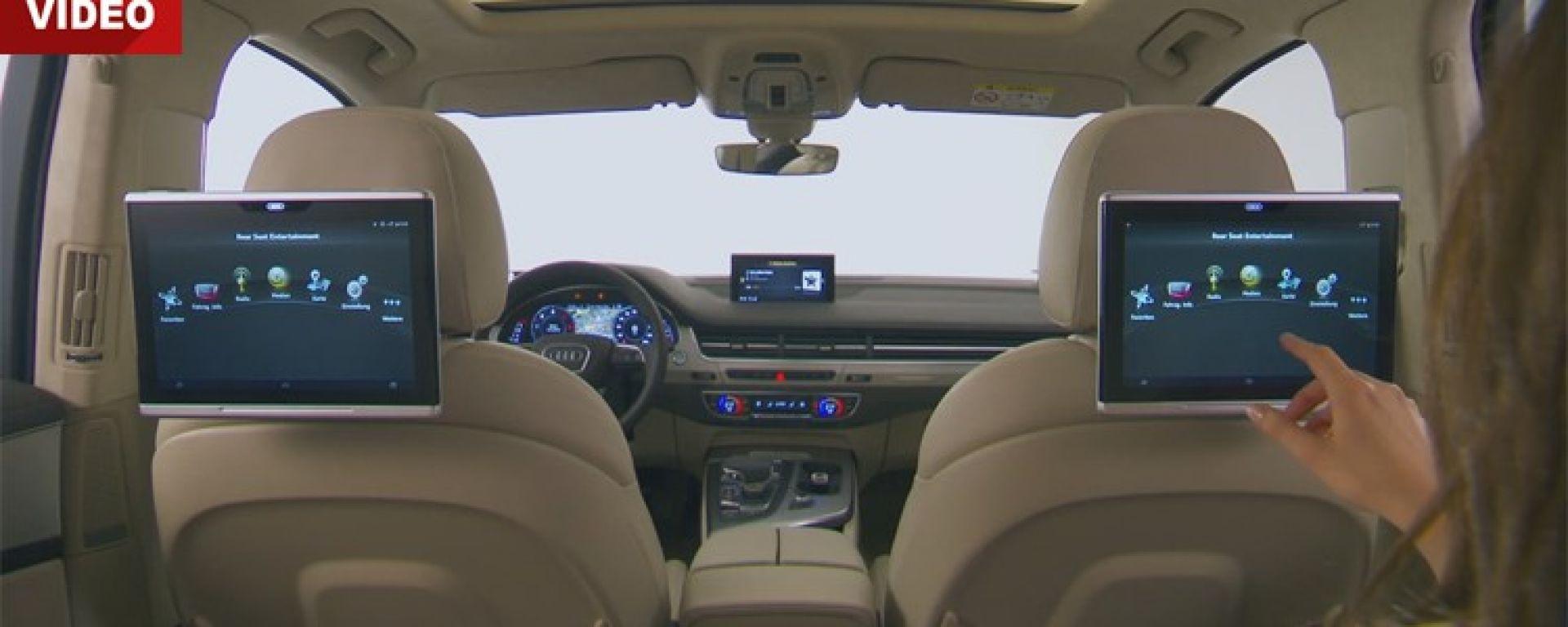 Audi Q7 Rear Entertainment Tablets