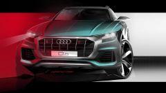 Nuova Audi Q8, un teaser tira l'altro. Ecco il frontale - Immagine: 1