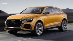Audi Q8 Concept: frontale imponente e fari Matrix Led