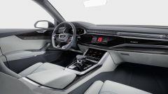 Audi Q8 concept: i display touch sono raccolti sotto il cosiddetto black panel