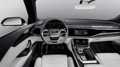 Audi Q8 Concept: nuova strumentazione digitale con schermi divisi sulla plancia