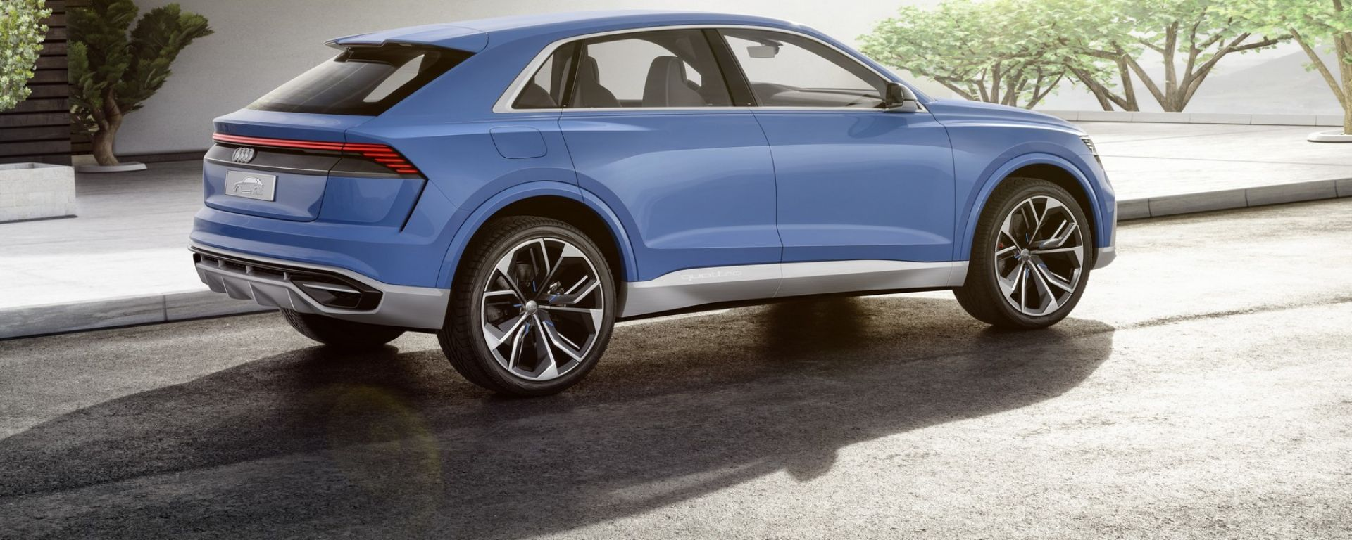 Audi Q8 concept: a Detroit il teaser del modello di serie