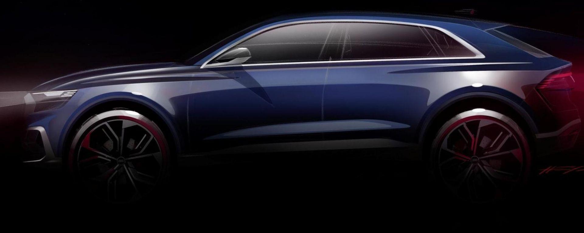 Audi Q8 e-tron, il teaser