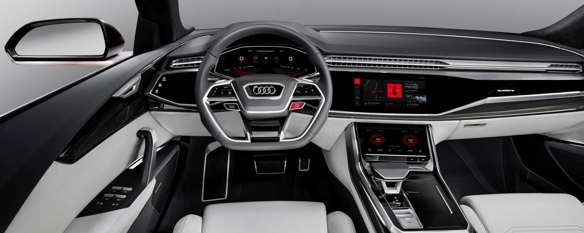 Audi Q8, l'infotainmet sarà su base Android