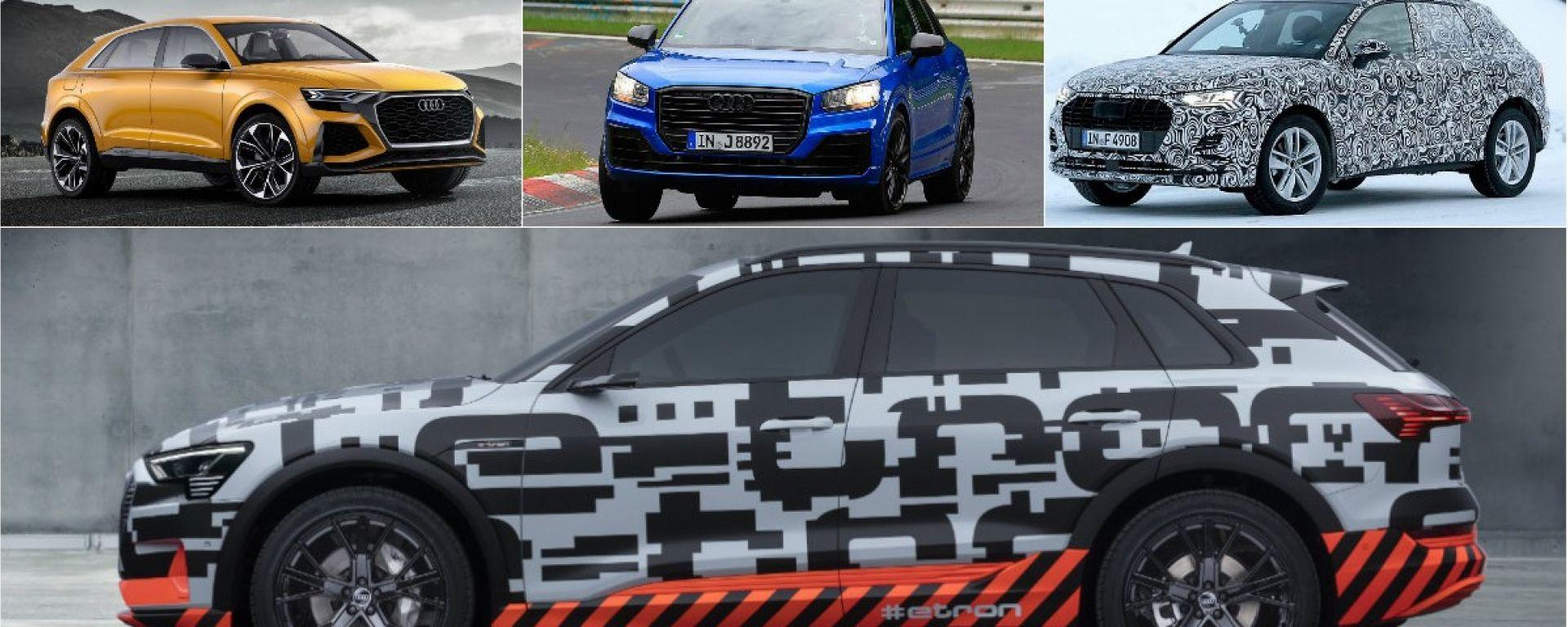 Audi Q8, nuova Q3 2018 e e-tron: ecco quando escono