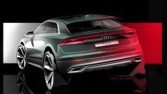 Audi Q8, nuovo teaser per il futuro maxi Suv dei Quattro Anelli