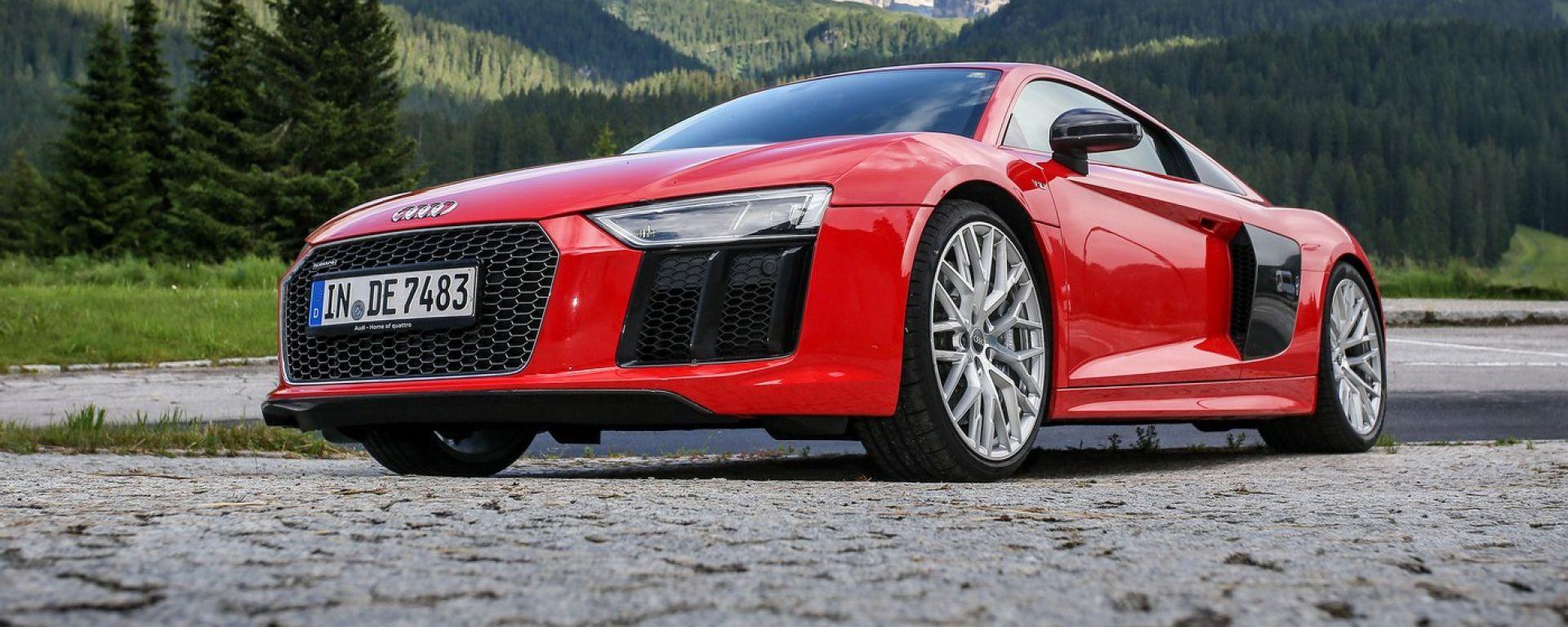 Audi R8 Plus: alla frusta sulle Dolomiti