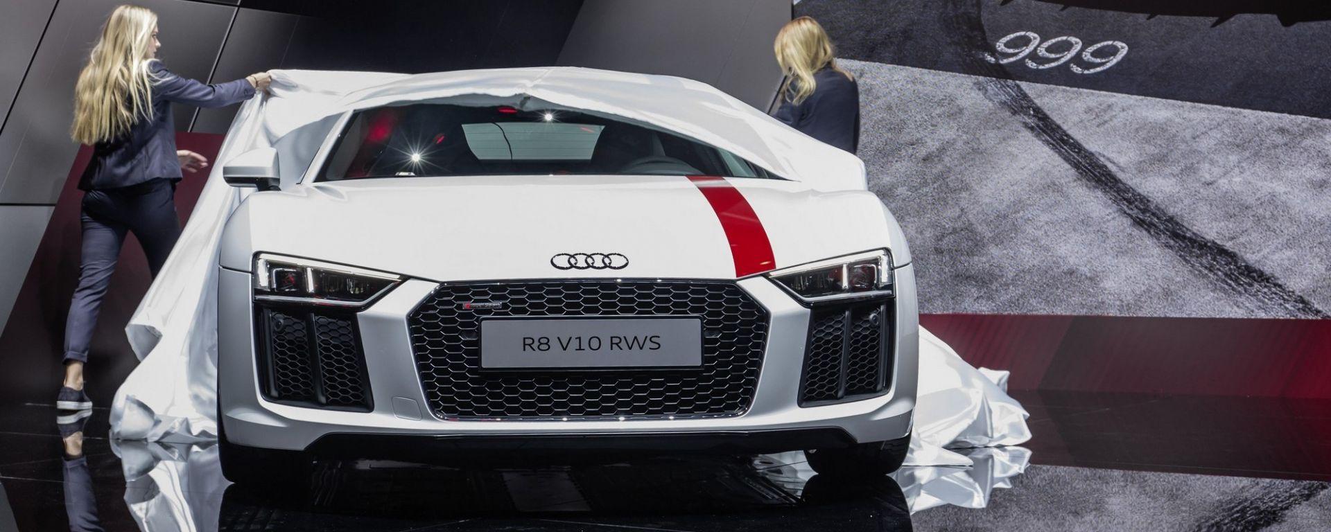 Audi R8 V10 RWS, per la prima volta un'Audi a trazione posteriore