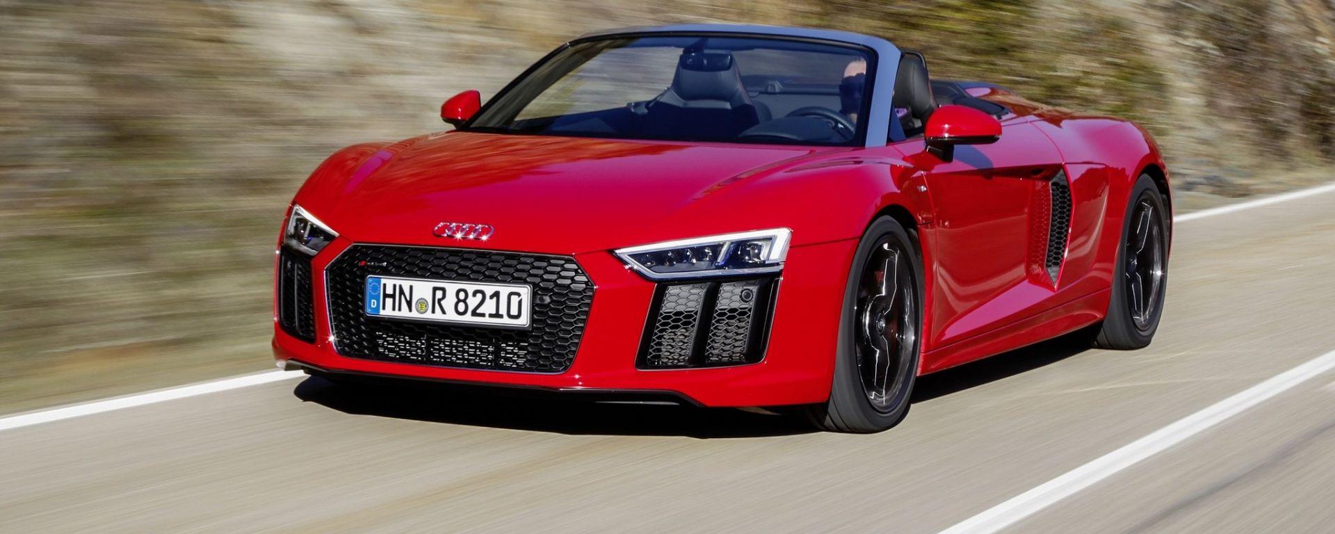 Audi R8 V10 RWS - la versione Spyder