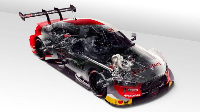 Audi RS 5 DTM 2019, cutaway view