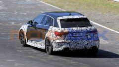 Audi RS3, nuove foto spia:3/4 posteriore