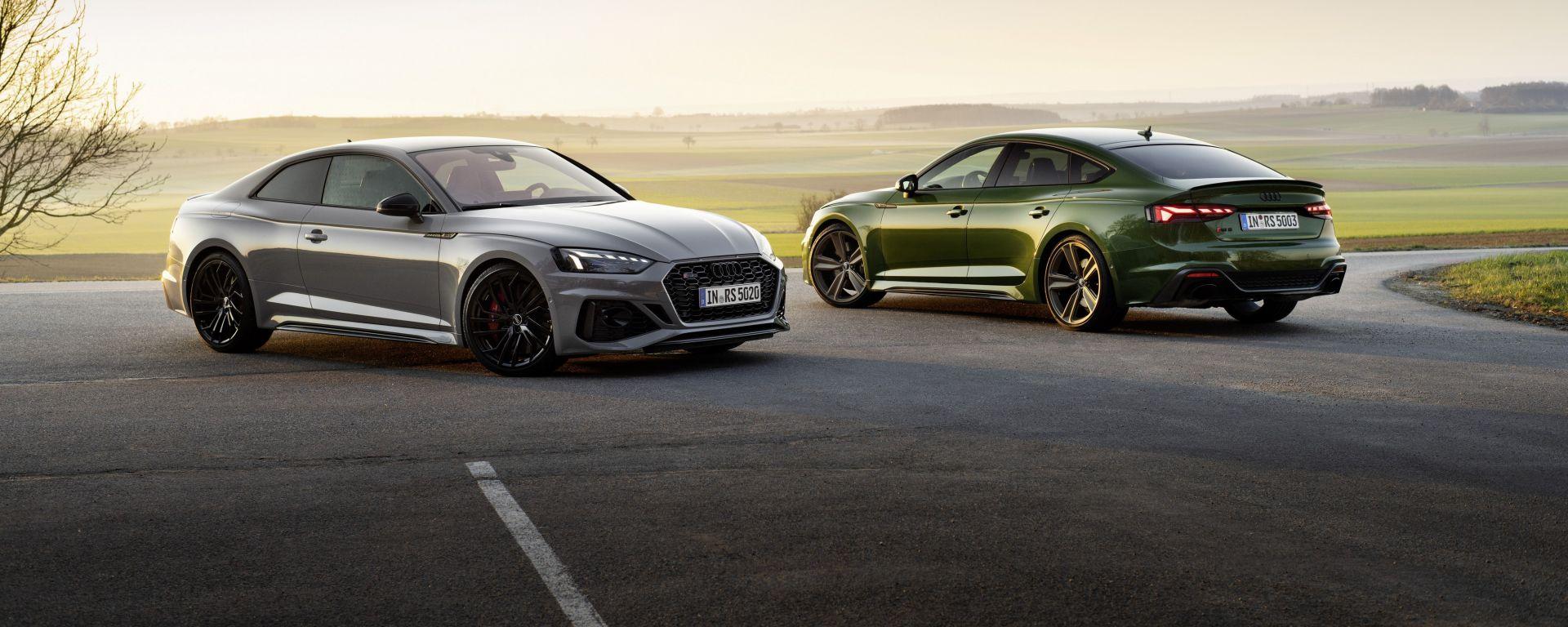Audi RS5 Coupé ed RS5 Sportback 2020, prezzi da 83.500 euro