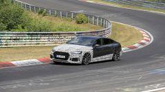 Audi RS5-R: foto spia del facelift ABT al Nürburgring, di fianco