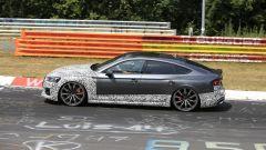 Audi RS5-R: foto spia del facelift ABT al Nürburgring, il lato sinistro
