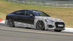 Audi RS5-R: foto spia del facelift ABT al Nürburgring in curva